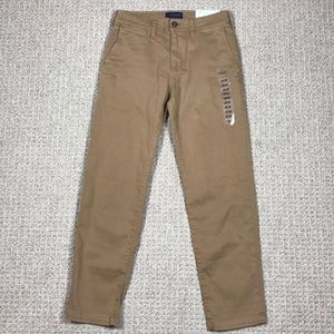 AEO 26X28 Slim Straight Extreme Flex Khaki Pants